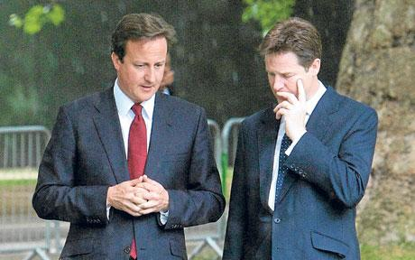 'So then Cleggie, now we have nearly screwed the hard working LOWER CLASSES, where do we go next? Any ideas?'